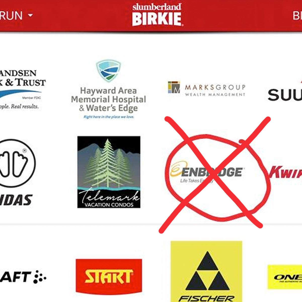Enbridge Sponsorship Removed from Birkie 2021